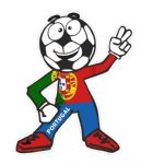 Novelty FOOTBALL HEAD MAN With Portugal Portuguese Flag Motif For Football Soccer Team Supporter Vinyl Car Sticker 100x85mm